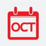 Ύφος σχεδίου σημαδιών απεικόνισης ημερολογιακών εικονιδίων μήνα ελεύθερη απεικόνιση δικαιώματος