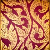 Ύφος της Ταϊλάνδης λουλουδιών και παλαιά χρυσά κατασκευασμένα λωρίδες Στοκ Εικόνες