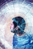 Ύφος της sci-Fi πορτρέτου ατόμων Στοκ Φωτογραφίες