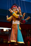 Ύφος του Νεπάλ μαριονετών σε Thamel Κατμαντού Νεπάλ Στοκ Φωτογραφία