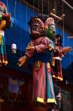 Ύφος του Νεπάλ μαριονετών σε Thamel Κατμαντού Νεπάλ Στοκ φωτογραφία με δικαίωμα ελεύθερης χρήσης