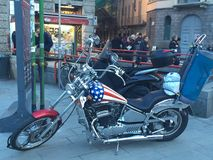 Ύφος του Harley davidson ΗΠΑ Στοκ Εικόνες