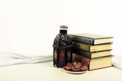 Ύφος φαναριών αραβικά ή Μαρόκο με το φοίνικα ημερομηνίας Στοκ φωτογραφία με δικαίωμα ελεύθερης χρήσης