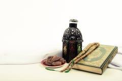 Ύφος φαναριών αραβικά ή Μαρόκο με το φοίνικα ημερομηνίας Στοκ Εικόνα