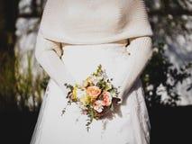 Ύφος χειμερινού εκλεκτής ποιότητας γάμου Στοκ φωτογραφία με δικαίωμα ελεύθερης χρήσης