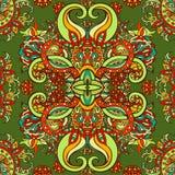 Ύφος Boho, εθνική διακόσμηση, άνευ ραφής σχέδιο Αφηρημένο floral φυσικό σχέδιο εγκαταστάσεων Στοκ Εικόνα