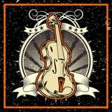 Ύφος Grunge το βιολί έννοιας κλασικής μουσικής ελεύθερη απεικόνιση δικαιώματος
