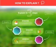 Ύφος origami εμβλημάτων επιχειρησιακού infographics διανυσματική απεικόνιση