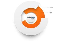 Ύφος origami κύκλων Infographics Στοκ Εικόνα