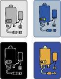 ύδωρ θερμαστρών αερίου διανυσματική απεικόνιση