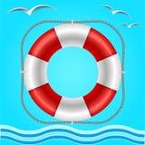 ύδωρ διάσωσης οδηγιών κύκλων απεικόνιση αποθεμάτων