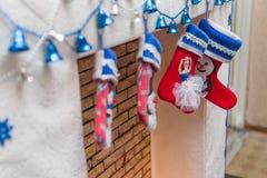 ύδωρ καλτσών ζωγραφικής σχεδίου χρώματος Χριστουγέννων βάσεων Στοκ Εικόνες