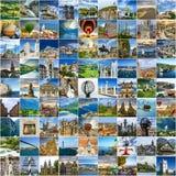 ύδωρ ταξιδιού θάλασσας κολάζ παραλιών Πολλές φωτογραφίες πολλών θέσεων σε όλο τον κόσμο στοκ φωτογραφία με δικαίωμα ελεύθερης χρήσης