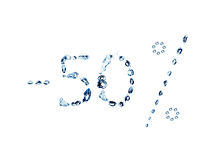 ύδωρ 50 φυσαλίδων Στοκ Εικόνες