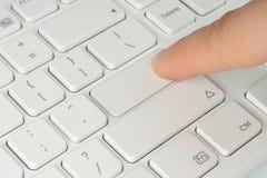 ώθηση δάχτυλων κουμπιών Στοκ Φωτογραφία