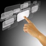 ώθηση χεριών κουμπιών ελεύθερη απεικόνιση δικαιώματος