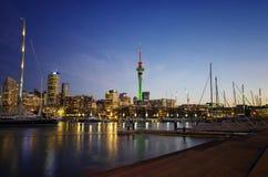 Ώκλαντ Νέα Ζηλανδία city exposure long night view Στοκ Φωτογραφίες