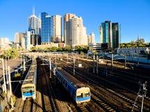 Ώρα αιχμής της Μελβούρνης στοκ φωτογραφία με δικαίωμα ελεύθερης χρήσης