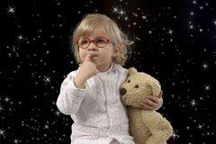 Ώρα για ύπνο για λίγο μικρό παιδί Στοκ εικόνες με δικαίωμα ελεύθερης χρήσης