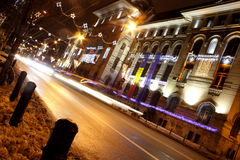 Ώρα κυκλοφοριακής αιχμής βραδιού Στοκ φωτογραφία με δικαίωμα ελεύθερης χρήσης