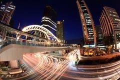Ώρα κυκλοφοριακής αιχμής οδών της Μπανγκόκ Στοκ Φωτογραφίες