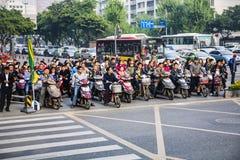 Ώρα κυκλοφοριακής αιχμής, Πεκίνο, Κίνα Στοκ εικόνα με δικαίωμα ελεύθερης χρήσης
