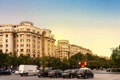 Ώρα κυκλοφοριακής αιχμής Βουκουρέστι Ρουμανία Στοκ Εικόνες