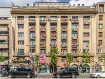 Ώρα κυκλοφοριακής αιχμής στη λεωφόρο Gheorghe Magheru του Βουκουρεστι'ου Στοκ Φωτογραφίες