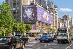 Ώρα κυκλοφοριακής αιχμής στη λεωφόρο Gheorghe Magheru του Βουκουρεστι'ου Στοκ φωτογραφίες με δικαίωμα ελεύθερης χρήσης
