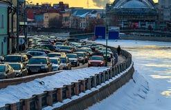 Ώρα κυκλοφοριακής αιχμής στη Μόσχα Στοκ φωτογραφίες με δικαίωμα ελεύθερης χρήσης