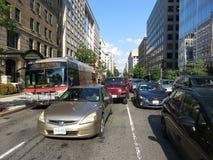 Ώρα κυκλοφοριακής αιχμής στο στο κέντρο της πόλης Washington DC Στοκ Φωτογραφία