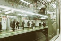 Ώρα κυκλοφοριακής αιχμής στο Τόκιο Στοκ Φωτογραφίες