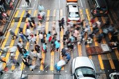 Ώρα κυκλοφοριακής αιχμής στο Χονγκ Κονγκ στην ημέρα Στοκ φωτογραφία με δικαίωμα ελεύθερης χρήσης