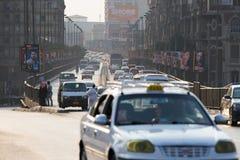 Ώρα κυκλοφοριακής αιχμής του Καίρου Στοκ εικόνα με δικαίωμα ελεύθερης χρήσης