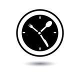 Ώρα του μεσημεριανού, χρόνος τροφίμων, απεικόνιση χρονικής έννοιας γευμάτων Στοκ εικόνα με δικαίωμα ελεύθερης χρήσης