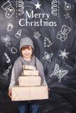 δώρα Χριστουγέννων εύθυμ&alph Στοκ Εικόνα