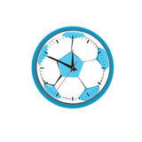 Ώρες υπό μορφή ποδοσφαίρου. Διανυσματική απεικόνιση Στοκ φωτογραφία με δικαίωμα ελεύθερης χρήσης