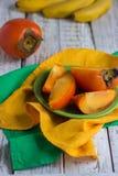 Ώριμα γλυκά persimmons Στοκ φωτογραφίες με δικαίωμα ελεύθερης χρήσης