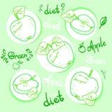 Ώριμα μήλα διατροφής της Apple Στοκ εικόνα με δικαίωμα ελεύθερης χρήσης