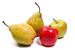 Ώριμα juicy φρούτα που απομονώνονται στο άσπρο υπόβαθρο Στοκ Εικόνα
