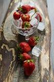 Ώριμες και νόστιμες φράουλες Στοκ φωτογραφία με δικαίωμα ελεύθερης χρήσης