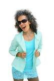 Ώριμη γυναίκα με τη δροσερή τοποθέτηση Στοκ εικόνα με δικαίωμα ελεύθερης χρήσης