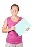 Ώριμη γυναίκα με το έγγραφο folde στοκ φωτογραφία με δικαίωμα ελεύθερης χρήσης