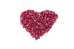 Ώριμη καρδιά ροδιών των σπόρων στοκ φωτογραφίες