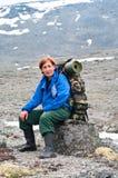 ώριμη ταξιδιωτική γυναίκα Στοκ Εικόνες