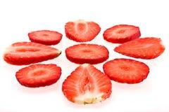 ώριμη φράουλα φετών Στοκ εικόνες με δικαίωμα ελεύθερης χρήσης