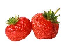 Ώριμη φράουλα που απομονώνεται σε ένα άσπρο υπόβαθρο Στοκ Εικόνες