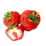 Ώριμη φράουλα που απομονώνεται σε ένα άσπρο υπόβαθρο Στοκ φωτογραφίες με δικαίωμα ελεύθερης χρήσης