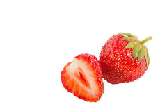 Ώριμη φράουλα που απομονώνεται στο άσπρο υπόβαθρο Στοκ φωτογραφίες με δικαίωμα ελεύθερης χρήσης