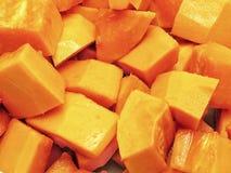 Ώριμη papaya περικοπών σύσταση κατά την άποψη κινηματογραφήσεων σε πρώτο πλάνο Χρήση ως υπόβαθρο ή οπτικό περιεχόμενο Στοκ φωτογραφία με δικαίωμα ελεύθερης χρήσης